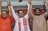 सोनोवाल असम भाजपा विधायक दल के नेता चुने गए, केंद्र सरकार से दिया इस्तीफा
