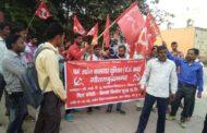श्रम कानूनों को लागू कराने की मांग पर फ्रैंको लिअोन कंपनी सूरजपुर ग्रेटर नोएडा पर सीटू के नेतृत्व में मजदूरों का तीसरे दिन भी धरना जारी